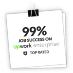 99% job success on Upwork Enterprise