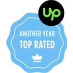 "Upwork ""Another year Top Rated"""