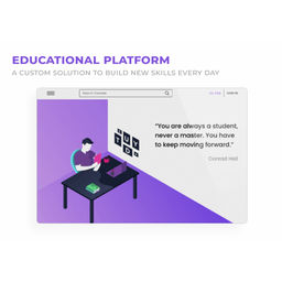 Educational platform / Angular, NodeJS (GraphQL)