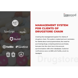 Management system for clients of drugstore chain