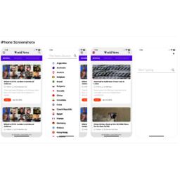 JustNews React Native app
