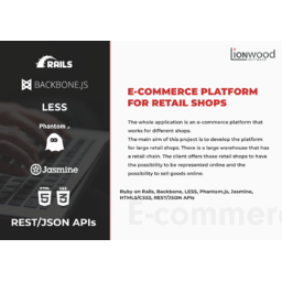 E-commerce platform for retail shops