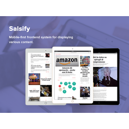 Salsify - Mobile-first Frontend System for Displaying Various Content